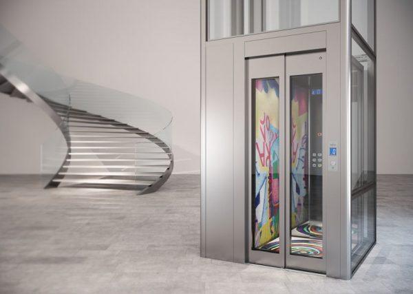 thang máy gia đình cửa mở tự động