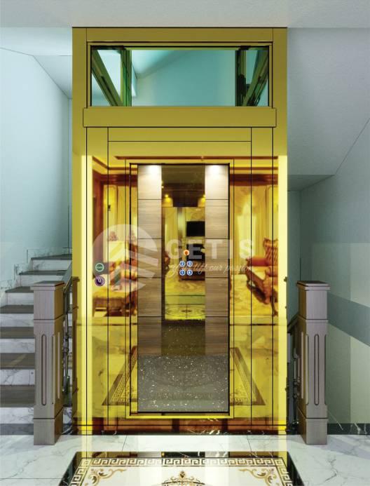 thang máy gia đình không phòng máy cấu tạo như thế nào