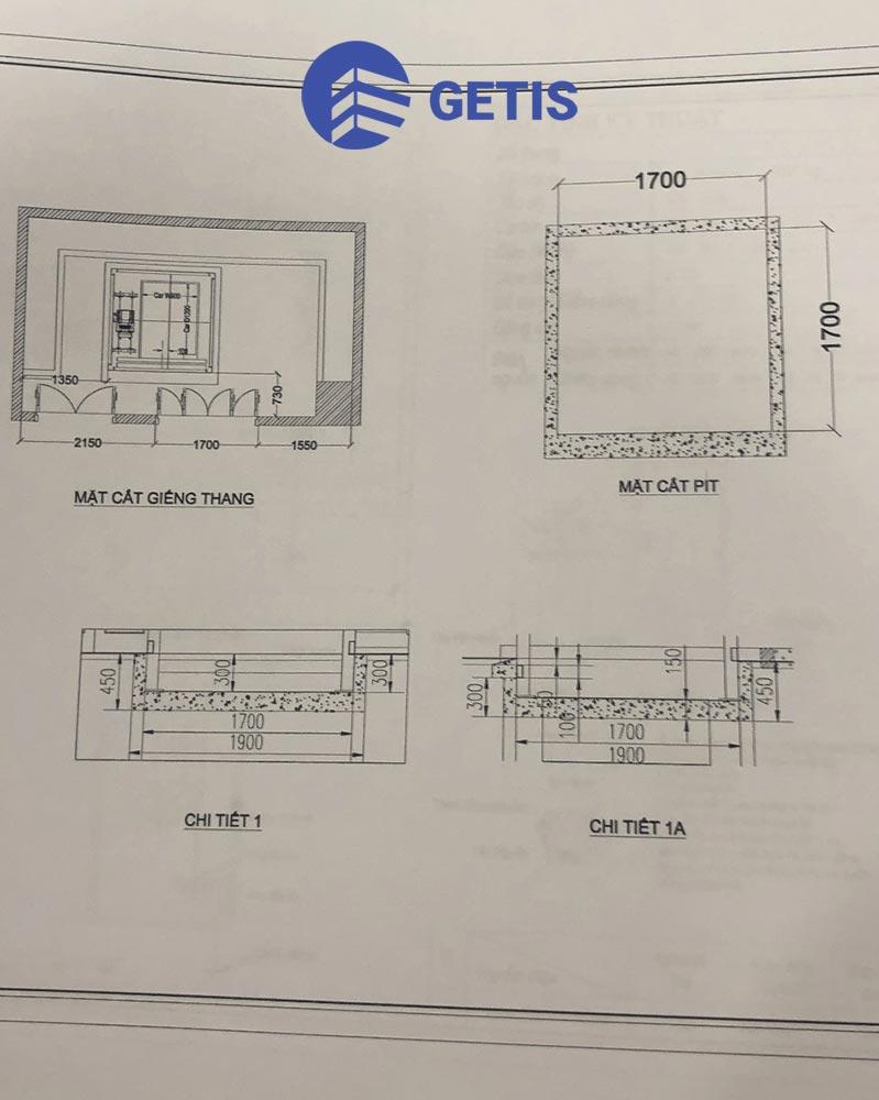 bản thiết kế dự án thang máy getis tại Hà Nội
