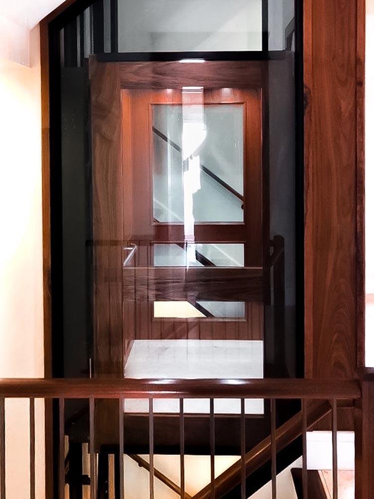 cabin thang máy gia đình getis ốp vân gỗ