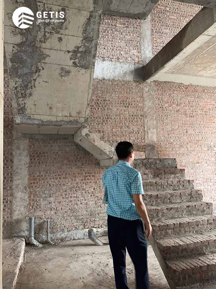 Khảo sát trước khi lắp đặt thang máy gia đình Getis tại Ciputra
