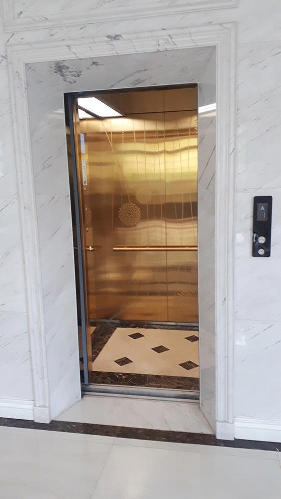 Khung cửa thang máy gia đình biệt thự vinhomes