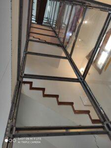 Khung inox gương thang máy gia đình Getis