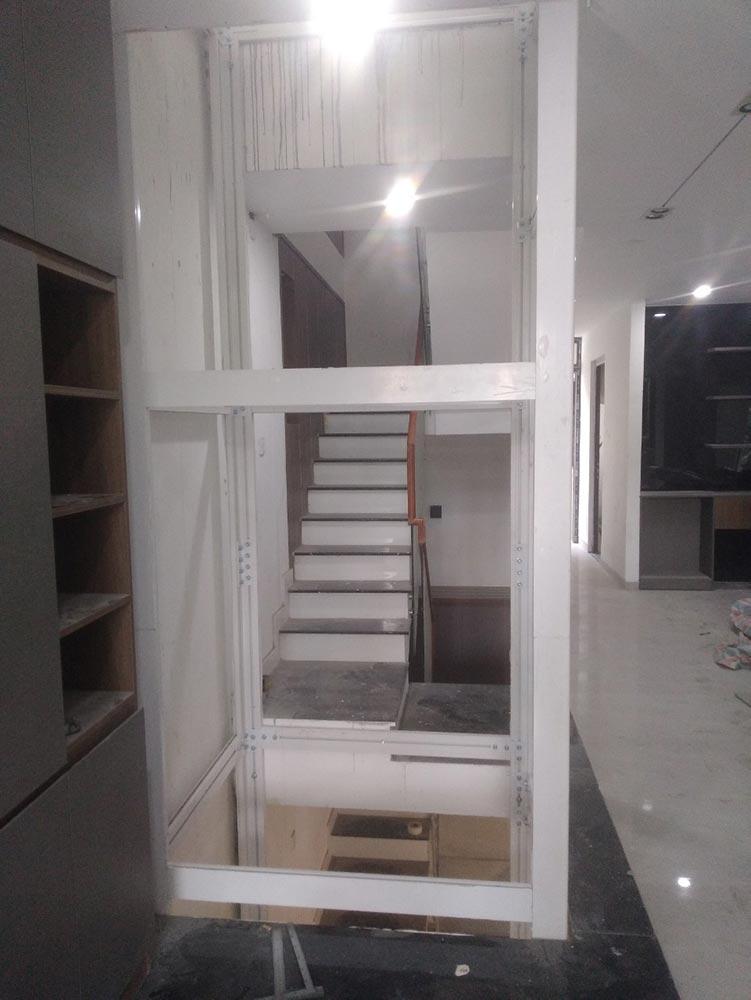 Khung thép thang máy gia đình getis tại Phú Mỹ Hưng