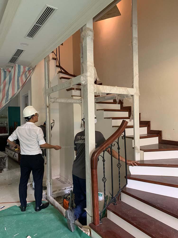 lắp đặt thang máy gia đình ở vinhomes