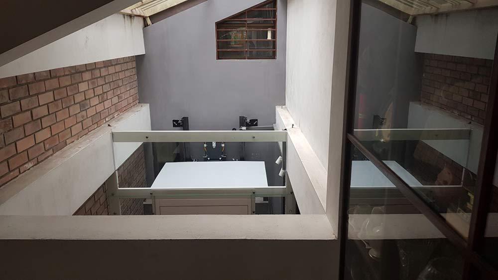 lóc cabin thang máy gia đình Định Công