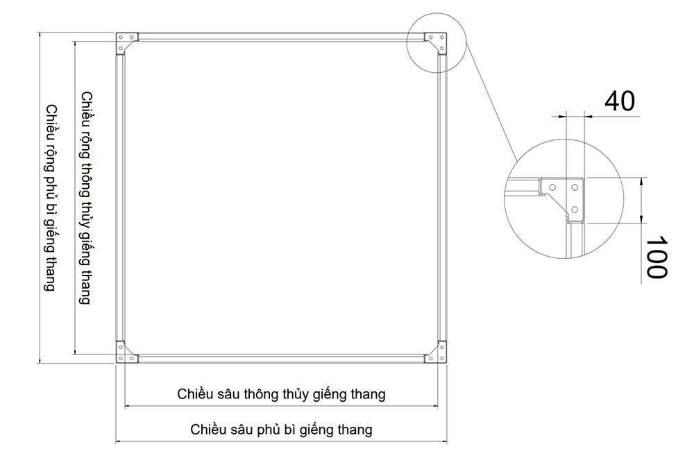 Thông số kỹ thuật khung thép thang máy gia đình 4cm