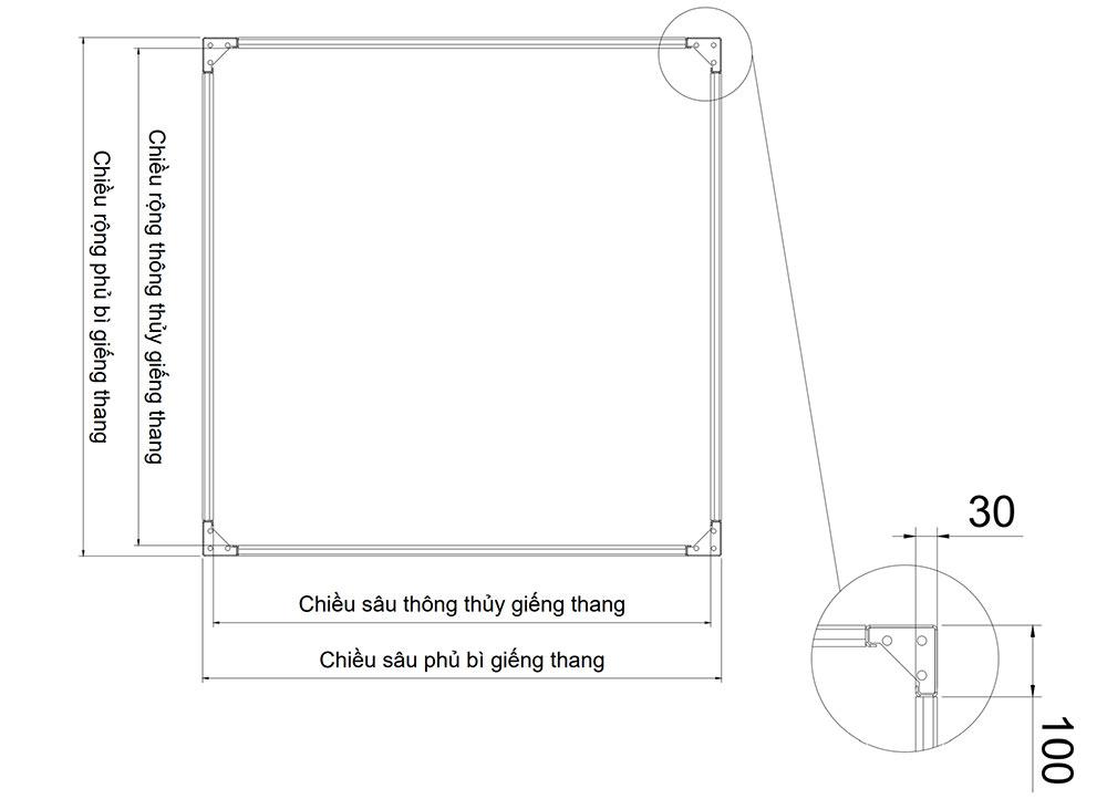 Thông số kỹ thuật thang máy gia đình 3cm