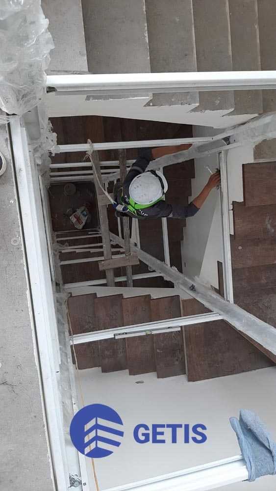 Thi công khung thang máy dự án tại Gamuda