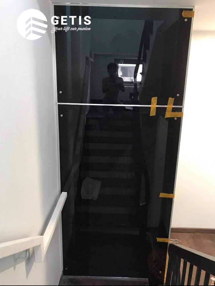 Thực tế thang máy gia đình getis đang thi công tại The harmony