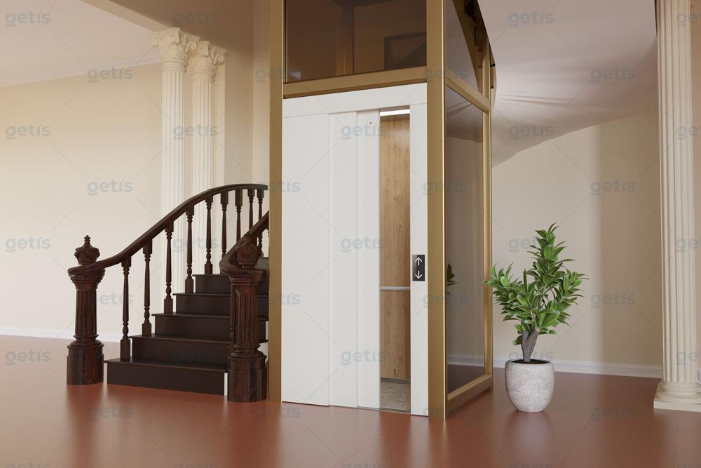 thiết kế nội thất thang máy gia đình