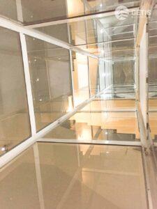 Vách kính cường lực trong thang máy Getis tại Hà Nội