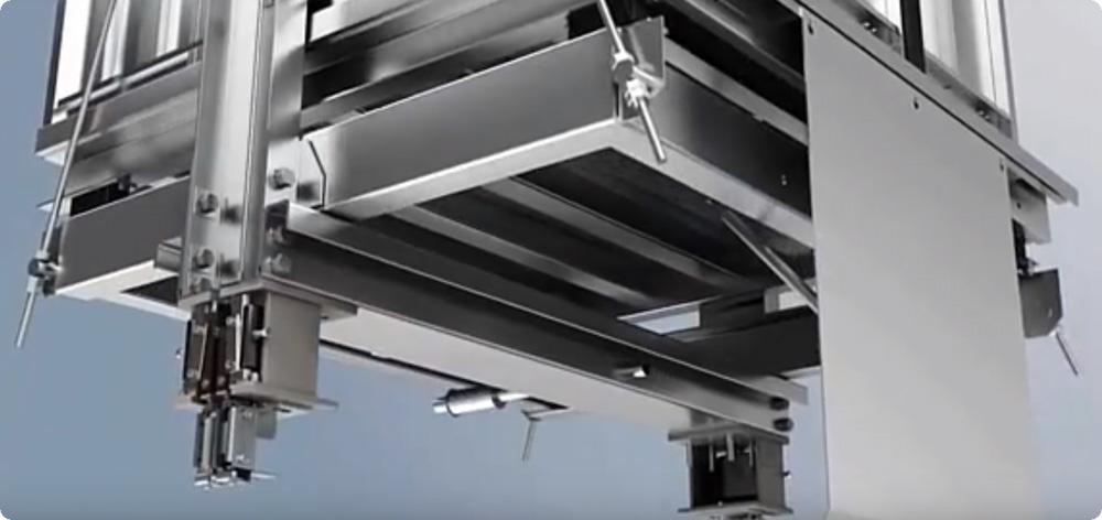 Hệ thống đo tải trọng dưới sàn cabin thang phủ sơn chống hao mòn
