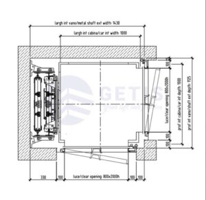 Bản vẽ kích thước thang máy 2