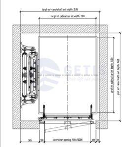 Bản vẽ kích thước thang máy