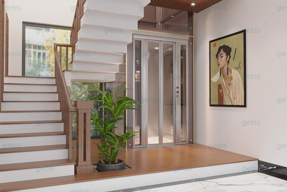 Thiết kế nhà có thang máy nhập khẩu nguyên chiếc châu Âu Getis